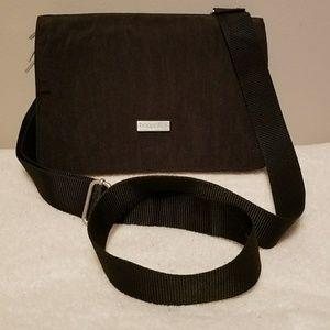 Baggallini Three Compartment Crossbody Bag Black